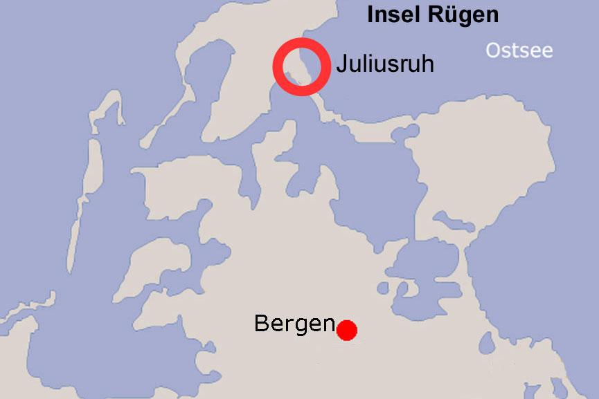 Lagekarte Juliusruh