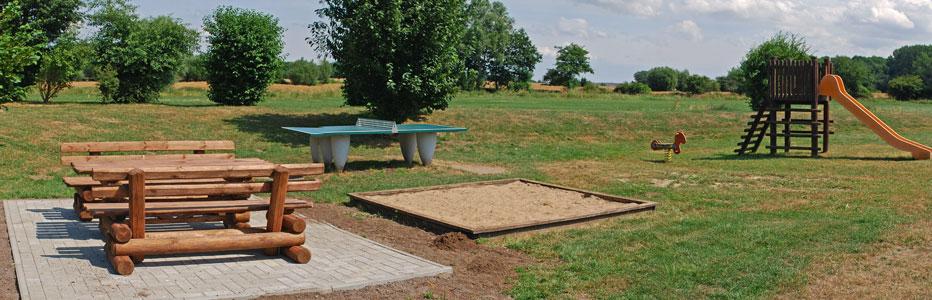 Spielplatz der Ferienresidenz am Nationalpark in Volsvitz